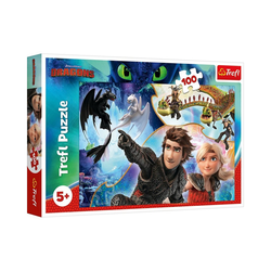 Trefl Puzzle Puzzle How to train Your Dragon, 100 Teile, Puzzleteile