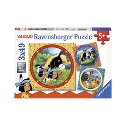 Ravensburger Puzzle 3er Set Puzzle, je 49 Teile, 21x21 cm, Yakari,, Puzzleteile