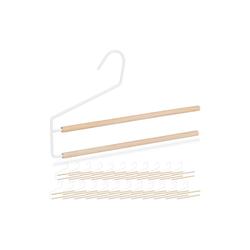 relaxdays Kleiderbügel 24 x Hosenbügel platzsparend weiß