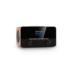 "Auna Connect 150 SE 2.1-Internetradio DAB/DAB+/PLL-UKW Spotify BT 2,8"" TFT-Display walnuss Internet-Radio (Internetradio, Digitalradio (DAB), UKW mit RDS, 28 W, Bluetooth, mit Bluetooth, 2.1 System mit FM/DAB+, WLAN, Bluetooth)"