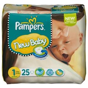 Pampers New Baby Größe 1Newborn (2–5kg)–Pack von 25Windeln