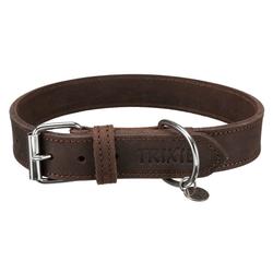 TRIXIE Hunde-Halsband Rustic Fettleder, Leder 3 cm x 56 cm