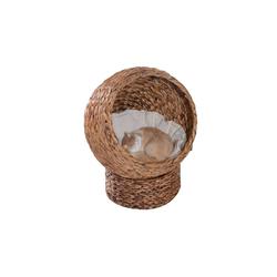 PawHut Tierhöhle Katzenkorb mit Kissen braun
