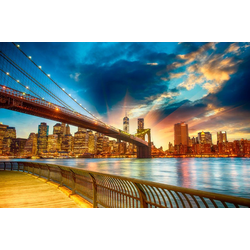 Fototapete Manhattan Sunset, glatt 3,50 m x 2,60 m