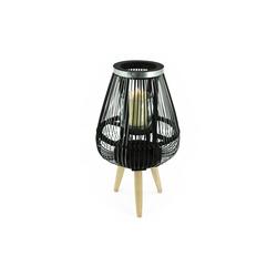 HTI-Living Windlicht Design-Windlicht Bambus/Metall Ø 26 cm x 26 cm x 45 cm