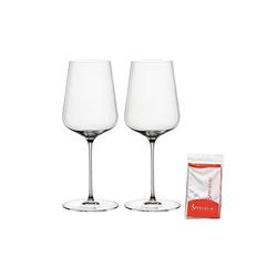 SPIEGELAU Glas Definition Universalglas Set 2tlg inkl. Poliertuch, Kristallglas