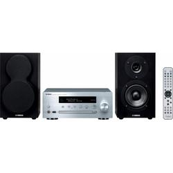 Yamaha MCR-N470D Stereoanlage (FM-Tuner mit RDS, Digitalradio (DAB), Internetradio, 44 W) silberfarben