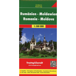 Rumänien Moldawien 1 : 500 000. Autokarte