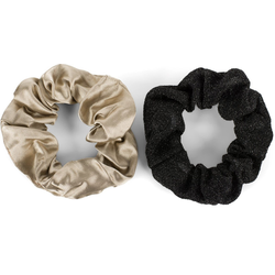 styleBREAKER Haargummi 2-Teiliges Scrunchie Haargummi Set, 2-tlg., 2-Teiliges Scrunchie Haargummi Set braun