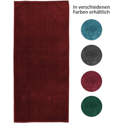 jilda-tex Strandtuch (1-St), mit 100% Bio-Baumwolle rot