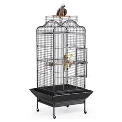 Yaheetech Vogelkäfig, Käfig Vogelvoliere Vogelhaus Tierkäfig mit Rollen 180cm hoch
