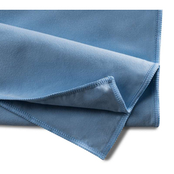 10 Seiden - Velourtücher, Microfasertuch, blau, 40x40 cm