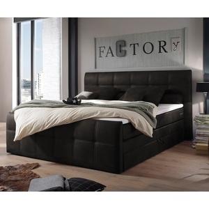 DELIFE Bett Amarillo 180x200 cm mit Matratze und Topper Boxspringbett grau