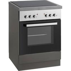 wiho Küchen Herdumbauschrank Esbo Arbeitsplatte ohne Ausschnitt für Kochfeld grau