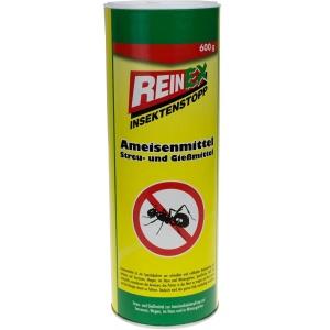 REINEX INSEKTENSTOPP Ameisenmittel Streu & Gießmittel , Zur Bekämpfung von Ameisen im Haus, auf der Terrassse und Wegen, 600 g - Dose