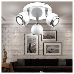 etc-shop Deckenleuchte, LED Deckenleuchte Deckenstrahler Strahler Metall Retro weiß OMAN 57882 Variante