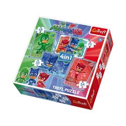 Trefl Puzzle 4in1 Puzzle - 35/48/54/70 Teile - PJ Masks, Puzzleteile