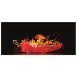 Artland Küchenrückwand Roter scharfer Chilipfeffer, (1-tlg) 150 cm x 65 cm x 0,3 cm
