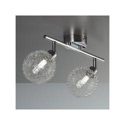 B.K.Licht LED Deckenleuchte, LED Deckenlampe Chrom modern Lampe Wohnzimmer Design drehbar G9