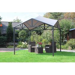 Leco Pavillon, Leco Pavillon Jule Dach Terrasse Garten Überdachung Sonnenschutz Sonnendach