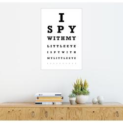 Posterlounge Wandbild, I spy… - Sehtest English 60 cm x 90 cm