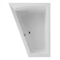 Ottofond Raumspar Badewanne Galia II links mit Whirlpoolsystem VIsion Weiß 175 x 135 x 50 cm