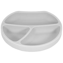 Kindsgut Kindergeschirr-Set (1-tlg), Silikon, Teller, Saug-Geschirr, hellgrau, geprüft, BPA-frei, umweltfreundlich, rutschfest, für Babys und Kleinkinder grau