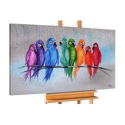 KUNSTLOFT Gemälde Enger Zusammenhalt, handgemaltes Bild auf Leinwand