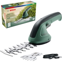 Bosch Gartenschere EasyShear (integrierter 3.6 V Akku, Akkulaufzeit: 40 min, Messerlänge: 12 cm (Strauch) / 8 cm (Gras), im Karton)