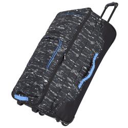 Travelite Basics 2-Rollen Reisetasche 78 cm schwarz druck