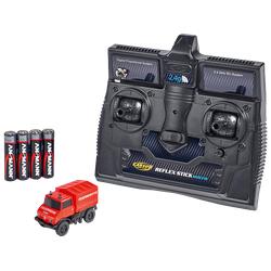 CARSON 1:87 MB Unimog U406 Feuerwehr 2.4G 100% ferngesteuertes Miniaturfahrzeug, Rot