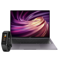 HUAWEI MateBook X Pro 2020 i5 Space Gray inkl. HUAWEI Band 4 Graphitschwarz
