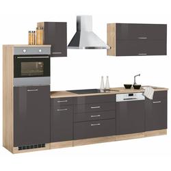 Küchenzeile Graz, ohne E-Geräte, Breite 290 cm grau