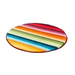 Kleine Wolke Badteppich Funky in multicolor, 80 cm