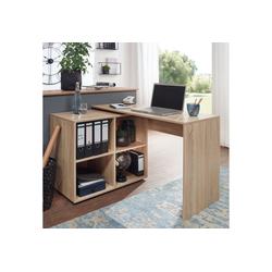 FINEBUY Schreibtisch SuVa11881_1, Design Eckschreibtisch mit Regal 117 x 75,5 x 88 cm Moderner Büro- Computer-Tisch Arbeitszimmer Winkelschreibtisch Home Office