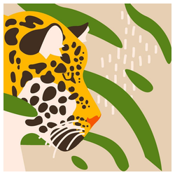 Paper+Design Papierserviette Leoparden Kopf, (5 St), 33 cm x 33 cm