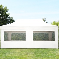 TOOLPORT Faltpavillon 3,00 x 6,00 m inkl. Seitenteile weiß (581882)