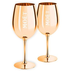 Moët & Chandon Limited Edition Ibiza Imperial Pure Glass Champagnergläser Gold