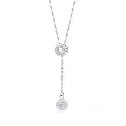 Elli Collierkettchen Y-Kette Kristalle 925 Sterling Silber