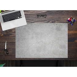 cover-your-desk.de Schreibtischaufsatz Schreibtischunterlage – Betonoptik hell – 60 x 40 cm – aus hochwertigem Vinyl, (1-St)