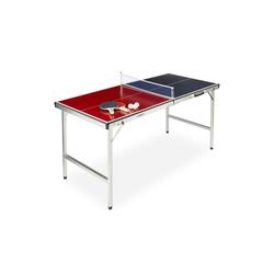 relaxdays Tischtennisplatte Klappbare Tischtennisplatte mit Zubehör