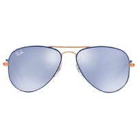 Ray Ban Aviator Junior RJ9506S copper-navy / blue-silver flash