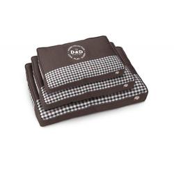 Sweet Checker Hundebett, 120x80x8cm, braun