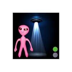 relaxdays Aufblasbares Partyzubehör Alien aufblasbar rosa