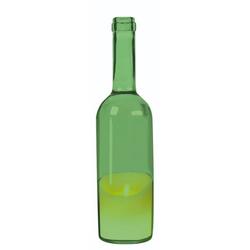 JOKA international LED-Kerze LED Kerze in Weinflasche, grün