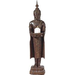 Kerzenständer »Buddha«, Kerzenhalter, 632511-0 braun 30x35x76 cm braun