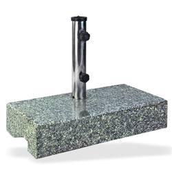 Sonnenschirmständer Schirmständer halb Granit 25 kg Schirmfuß