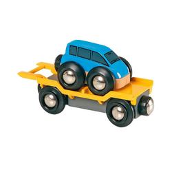 BRIO® Spielzeug-Eisenbahn Autrotransporter mit Rampe