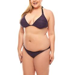 Maui Wowie Bügel-Bikini MAUI WOWIE Triangel Bustierbikini Bikini Azteken-Muster Große Größen Violett 44 / C-D