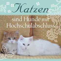 """H&H Romantisches Geschirrtuch """"Katzen sind..."""" Handtuch"""